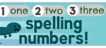 Spelling Numbers Videos for Kids… and a Salamander
