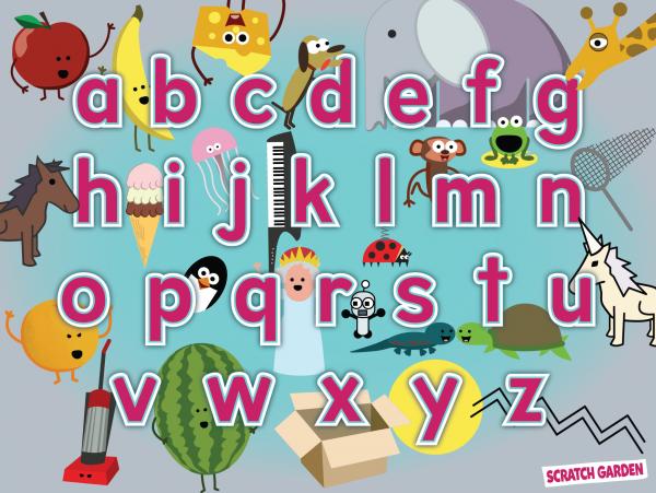 Scratch Garden Alphabet Poster