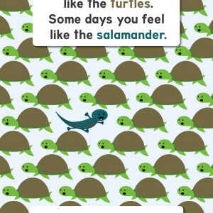 Scratch Garden Be the Salamander Poster