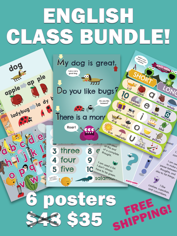 English Class Posters Bundle