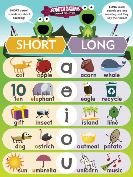 Long & Short Vowels Poster
