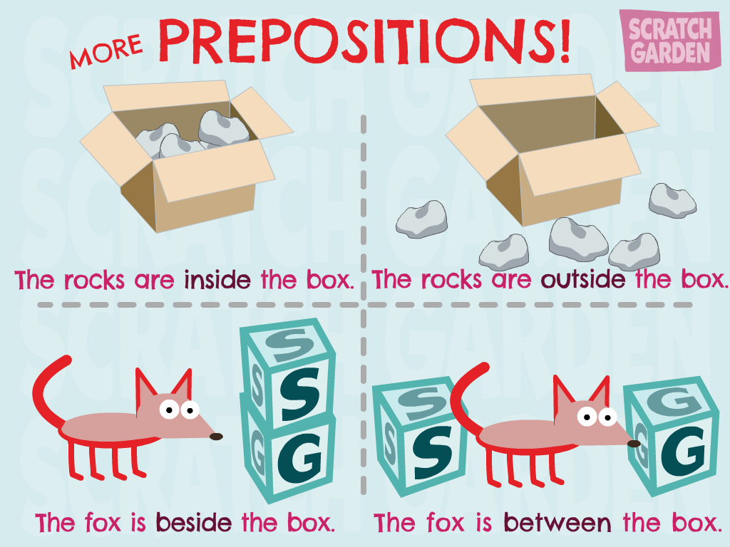 More Prepositions From Scratch Garden