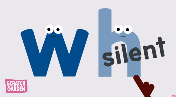 When W and H are together the H becomes silent!