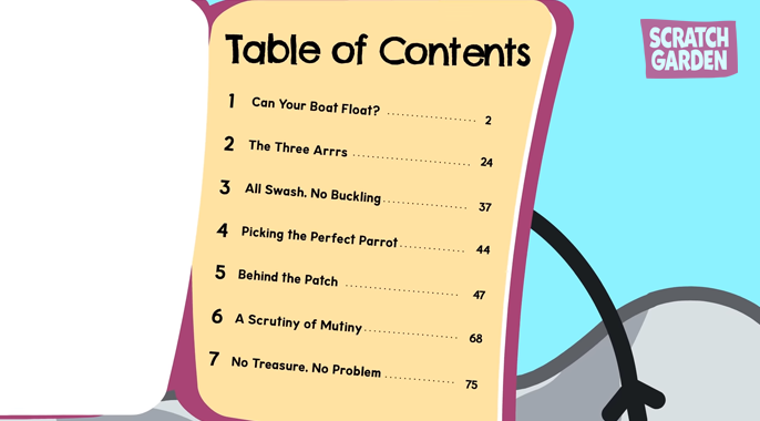 Example of a Table of Contents