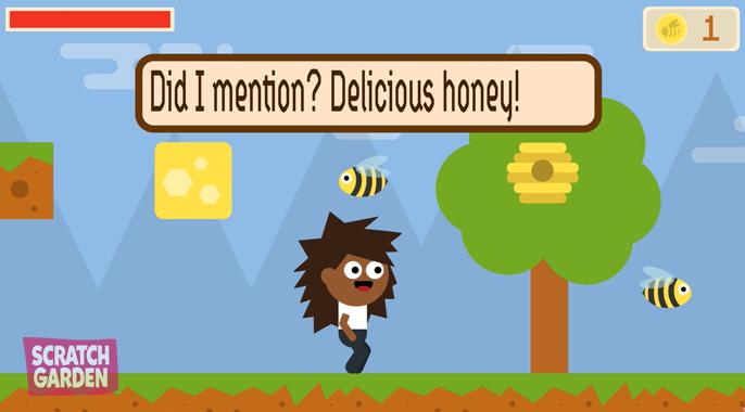 Bees make honey!